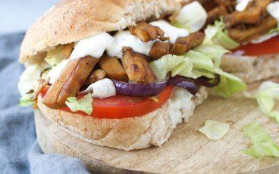 Broodje vegetarische shoarma