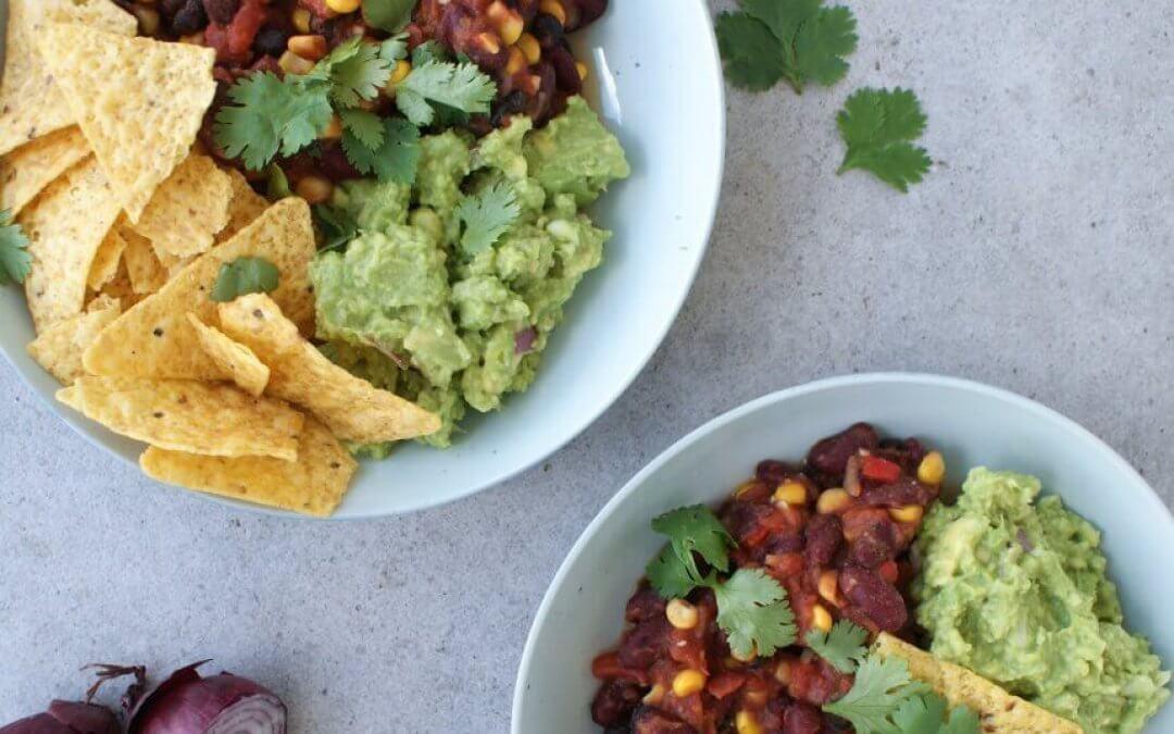Mexicaanse bowl met guacamole