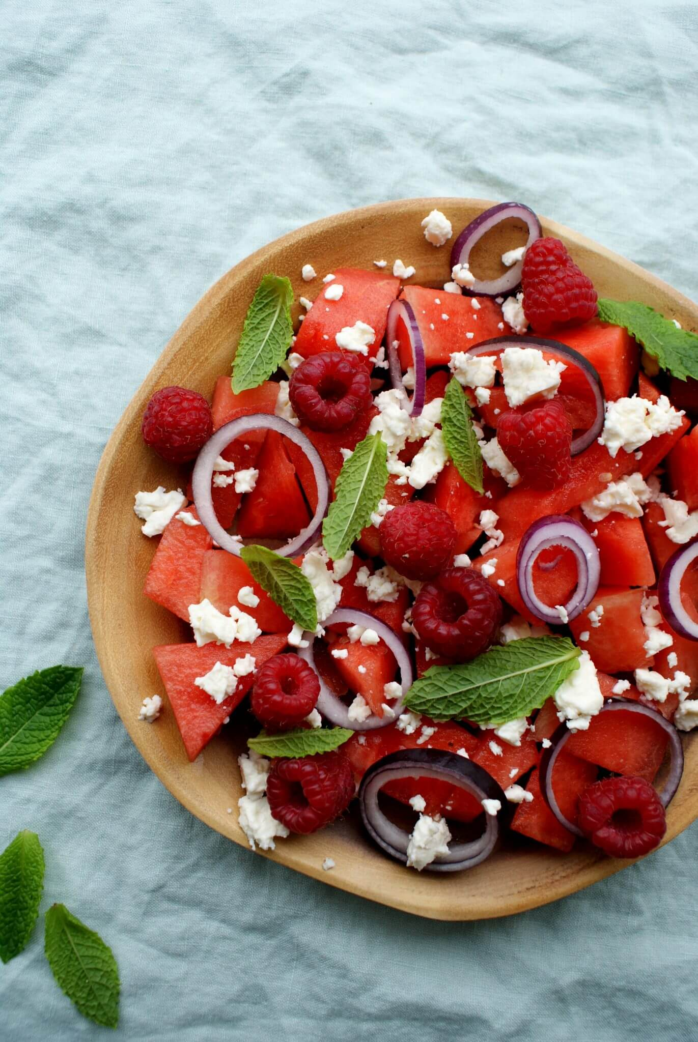 salade-watermeloen-feta