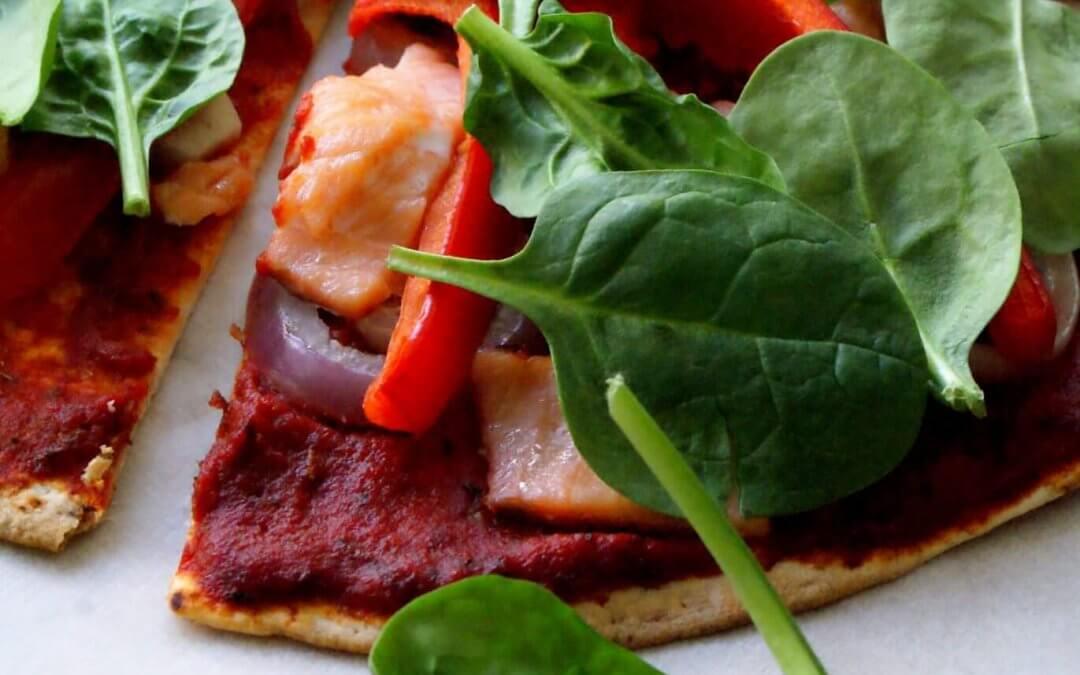 Wrap pizza met gerookte zalm