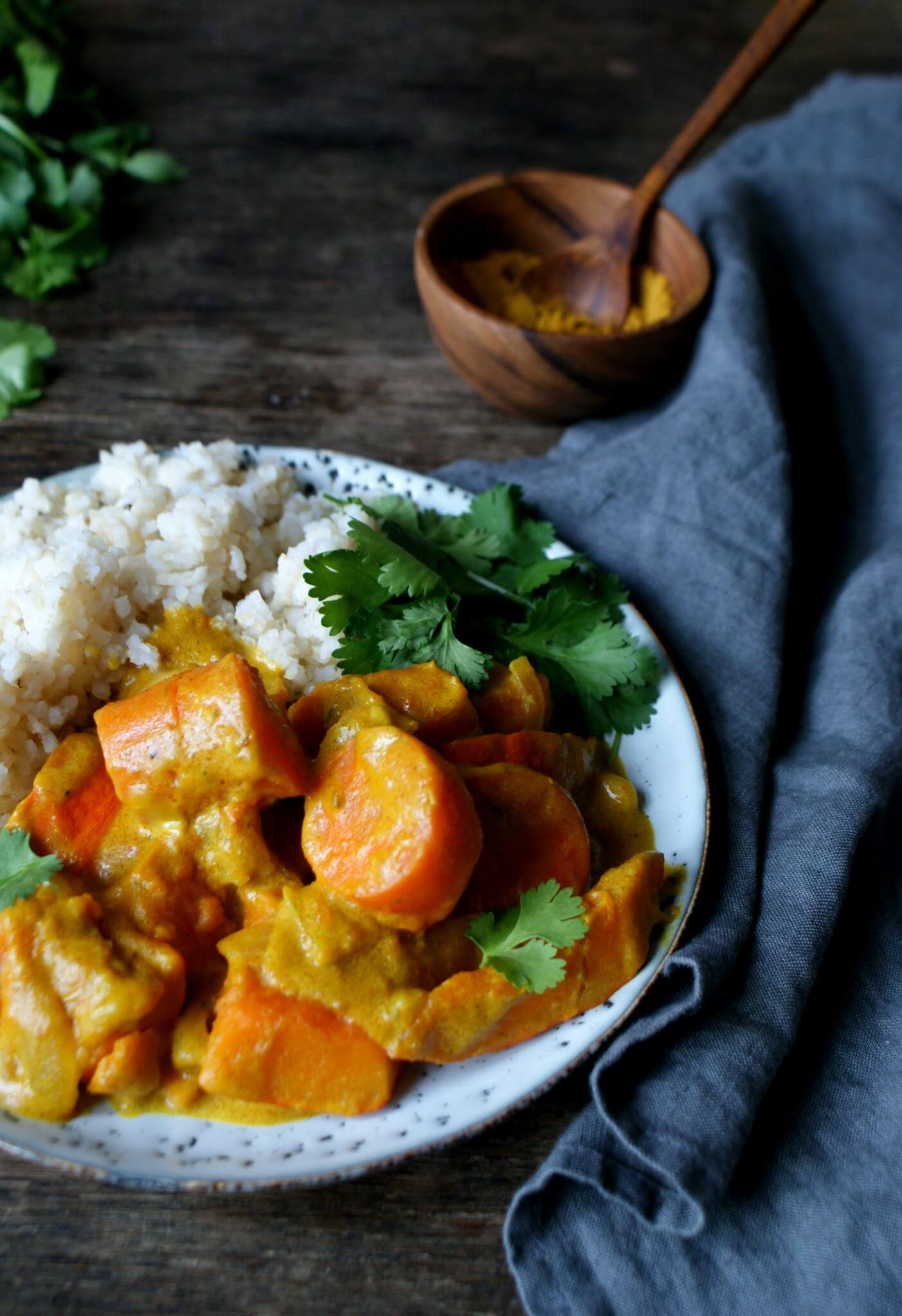 Curry met pompoen en wortel