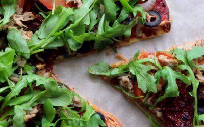 Wrap pizza met tonijn