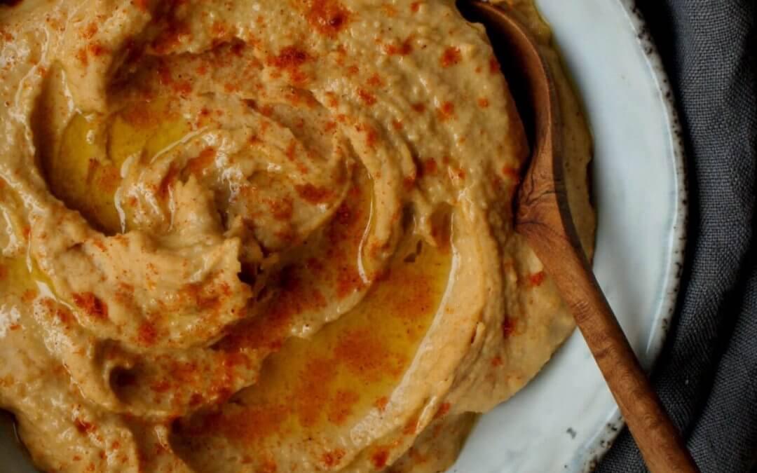 Hummus met rode linzen