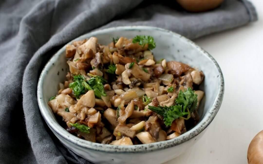 Tapenade met champignons en truffel