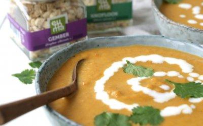Indiase soep met wortel en kokosmelk