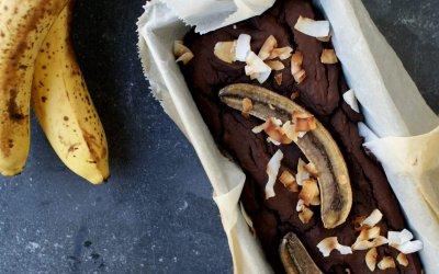 Gezonde brownie met banaan en kokos