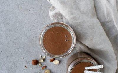 Chocolade hazelnoten smoothie