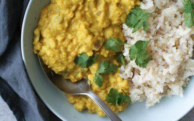 Gele linzen curry