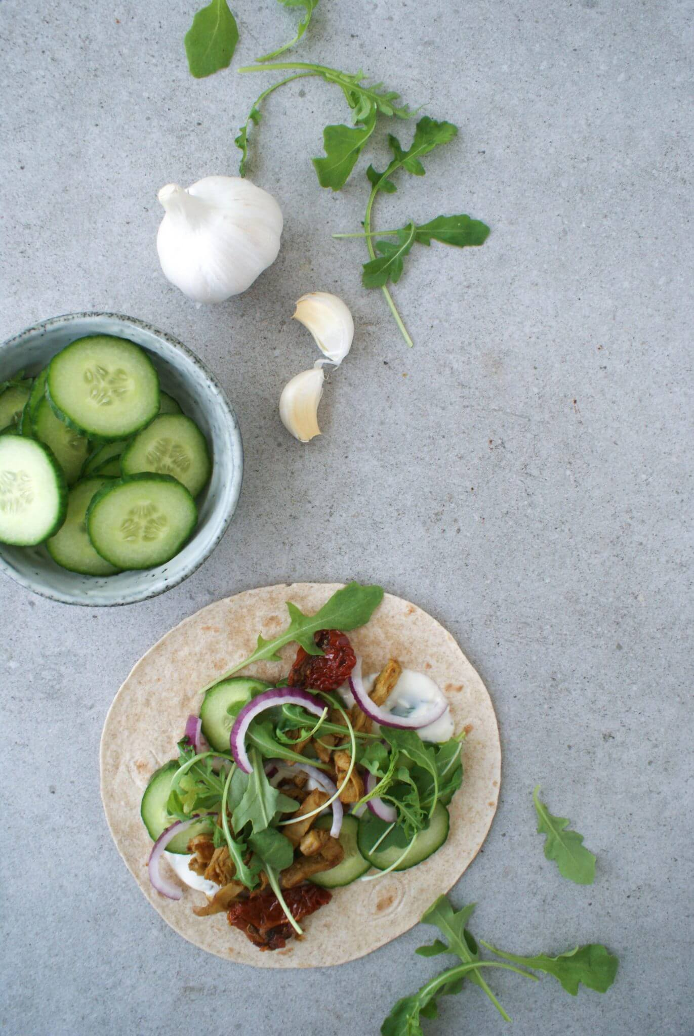 Wraps met vegetarische shoarma