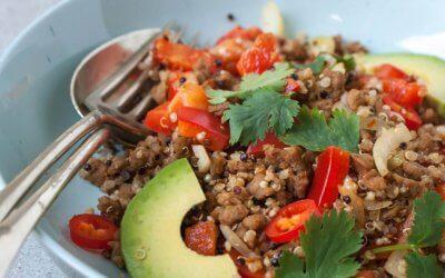 Warme Mexicaanse salade