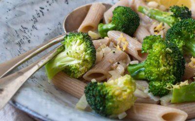 Pasta met broccoli en citroen