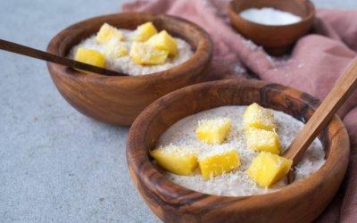 Rijstepap met mango en kokos