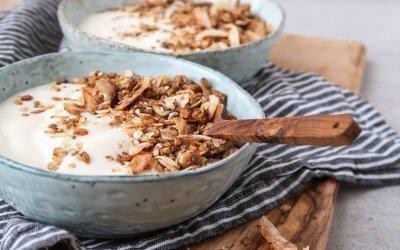 Pan granola met pindakaas