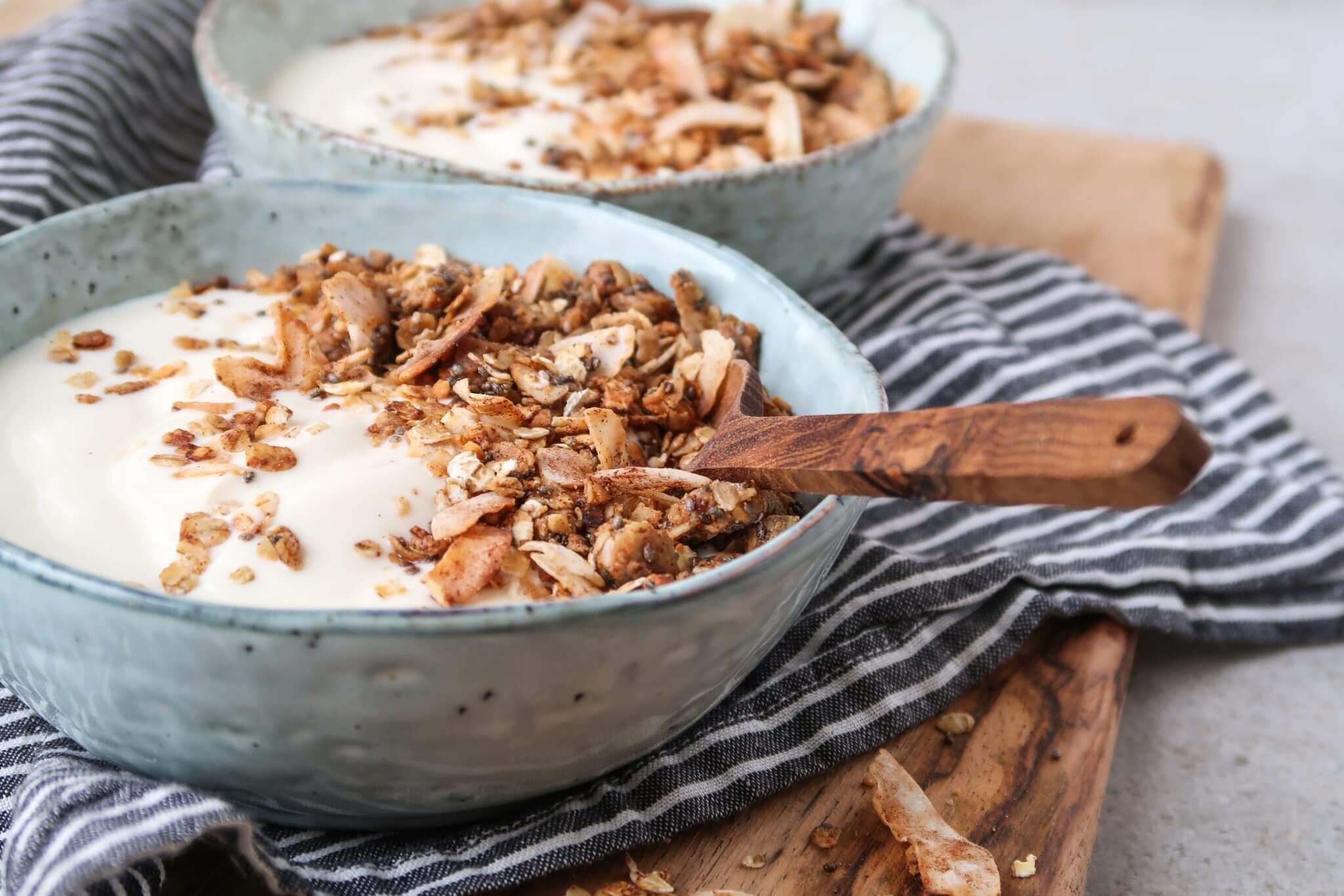 pan-granola-met-pindakaas