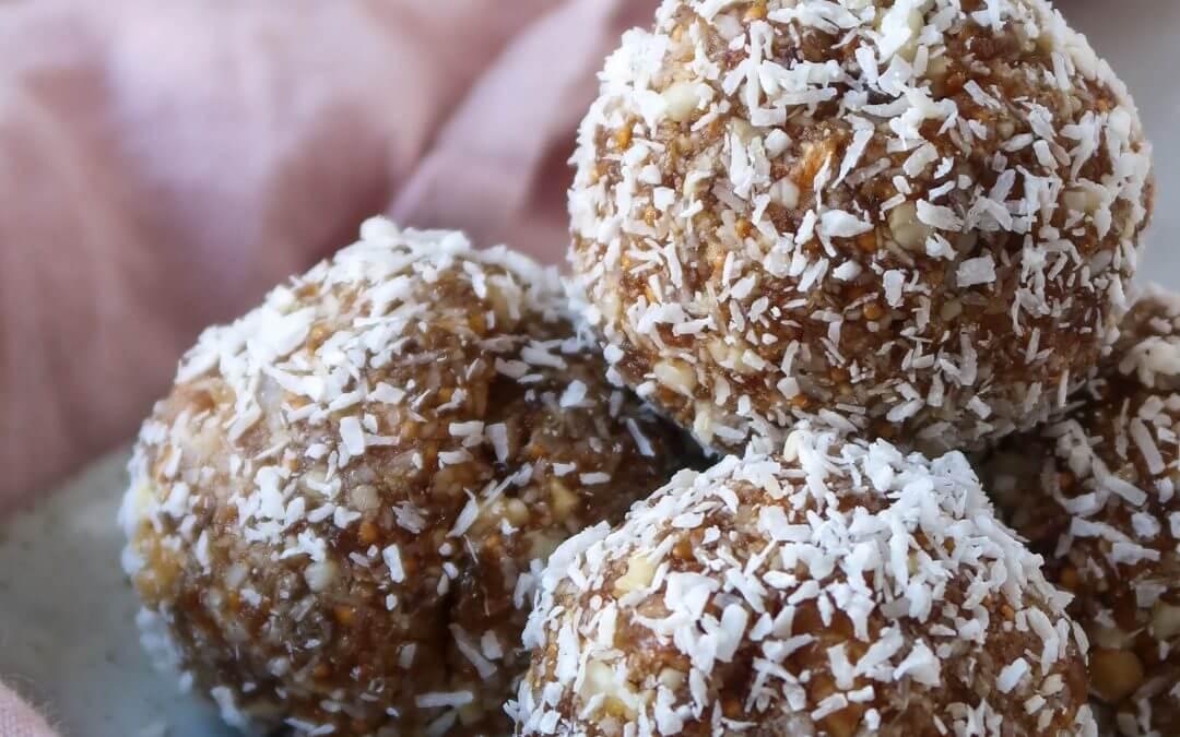 Bliss balls met vijgen en kokos
