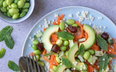 Salade met parelcouscous