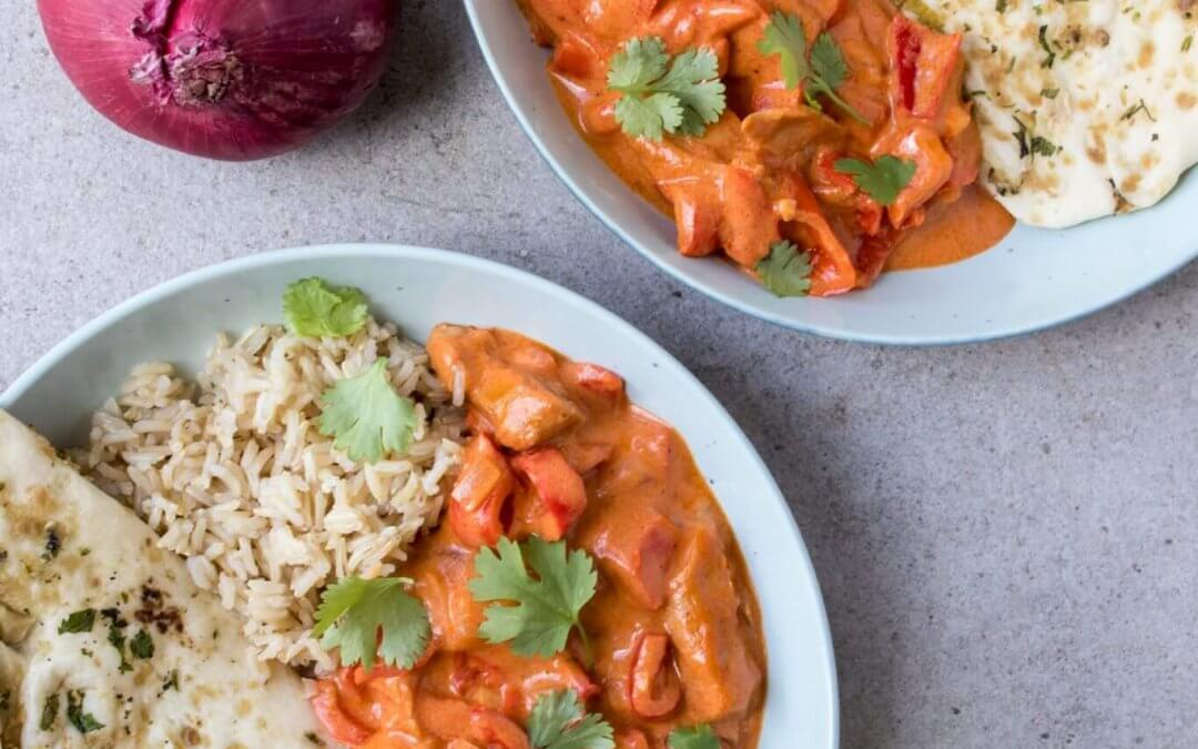 Vegetarische butter chicken curry