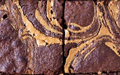 Brownies met pindakaas swirl
