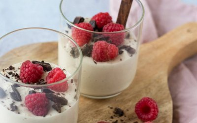 Cheesecake mousse met frambozen