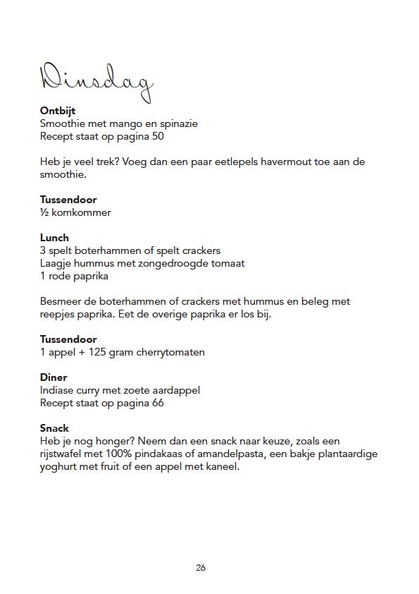 voedingsschema-ebook
