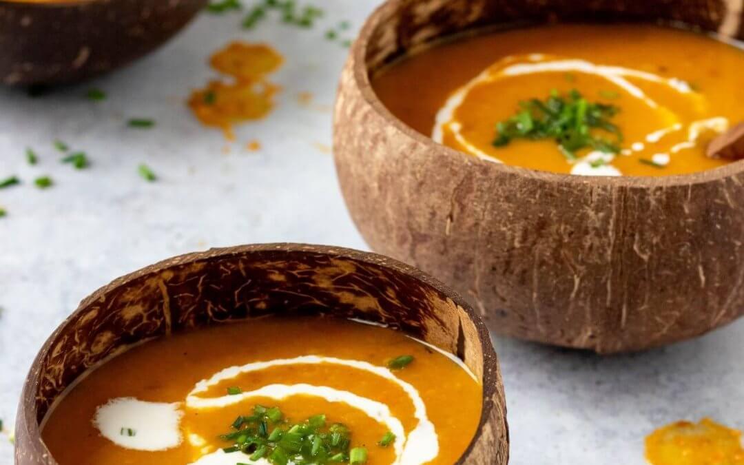 Soep van oranje groenten