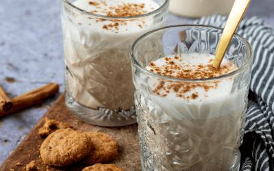 Vegan speculaas latte