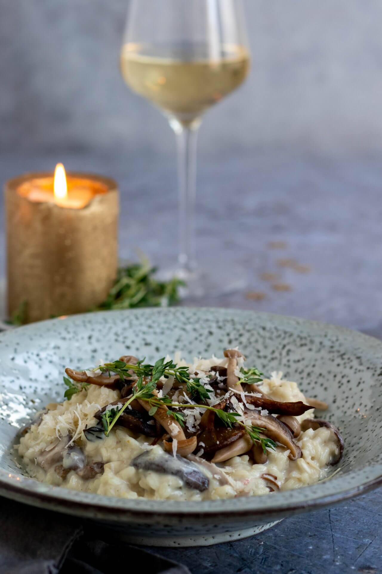 risotto-met-paddenstoelen-truffelolie