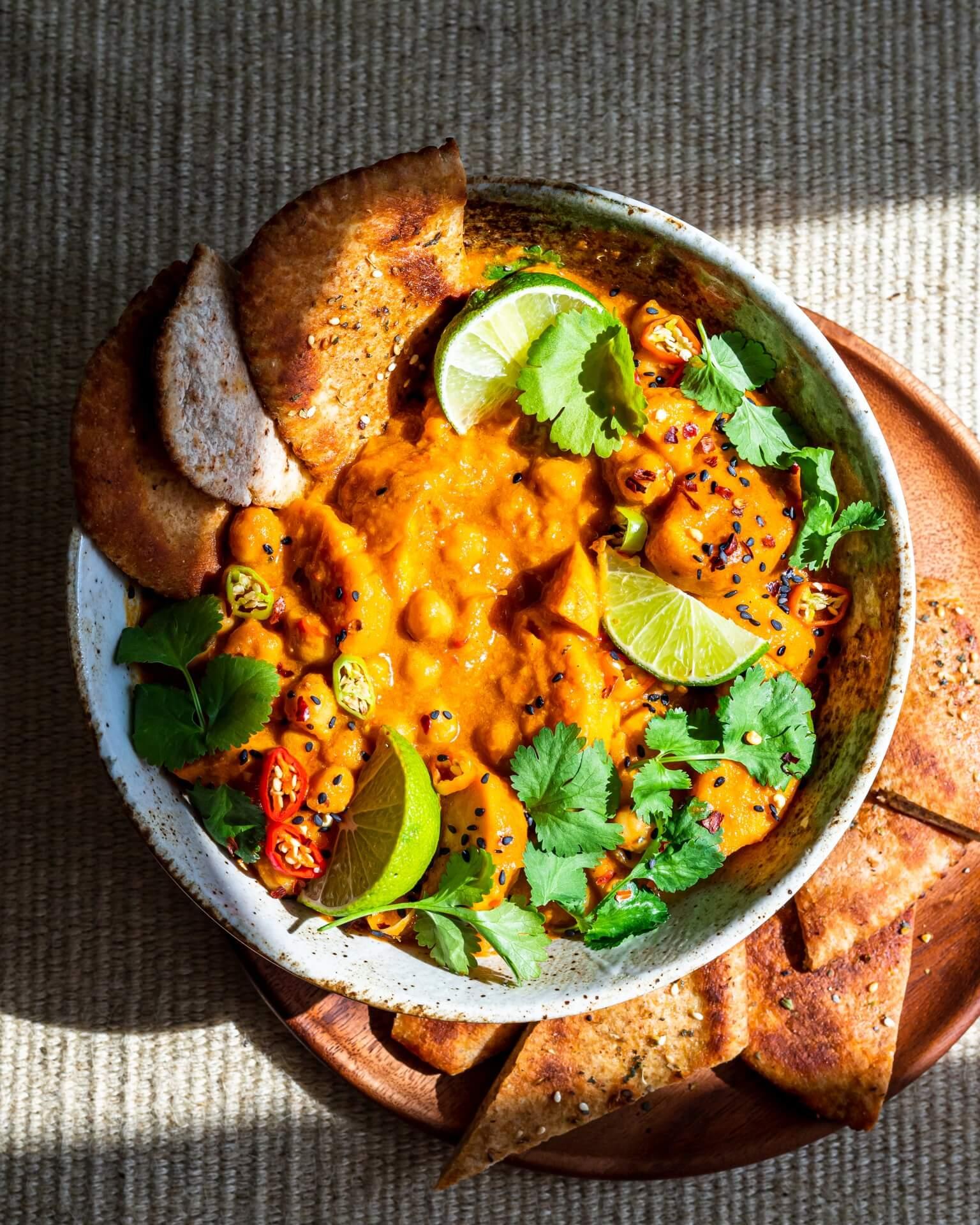 Curry-met-zoete-aardappel-en-kokos