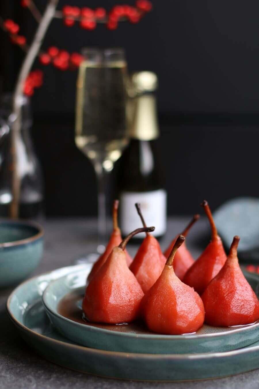 champagne-stoofpeertjes