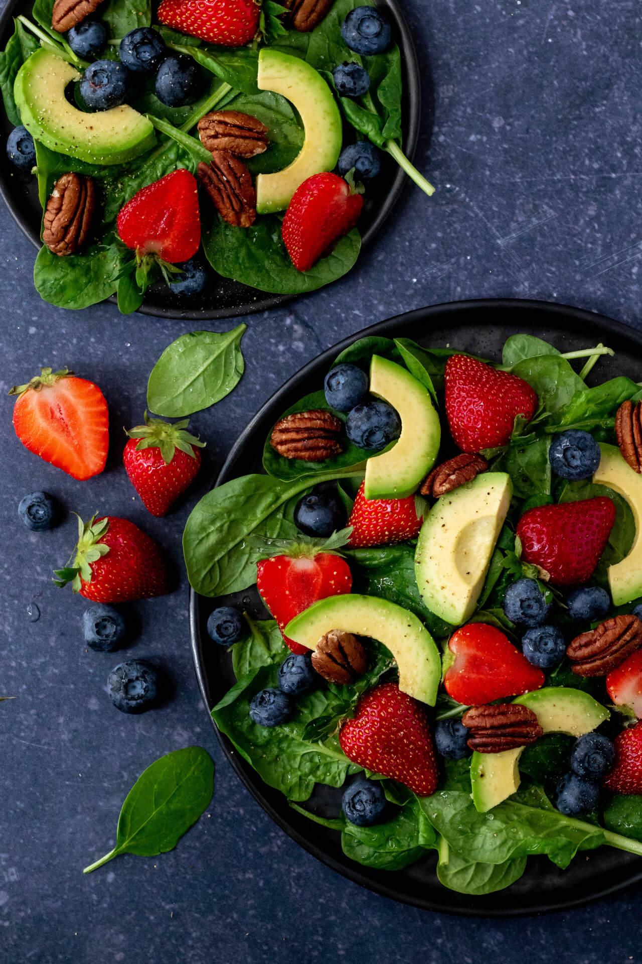salade-met-aardbeien
