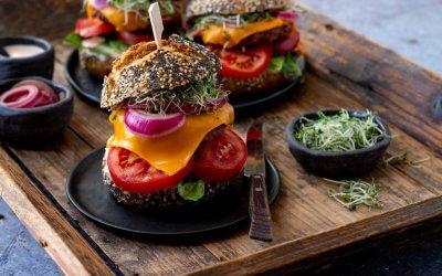 Makkelijke vegan cheeseburger